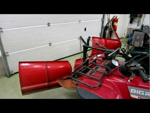 Home made atv snow plow and gas spring lift