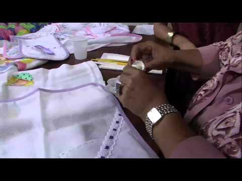 Mulher.com 10/04/2013 Filó Frigo - Pintura em fralda  Parte 1