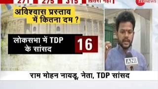 Ram Mohan Naidu on no-confidence motion against Modi government - ZEENEWS