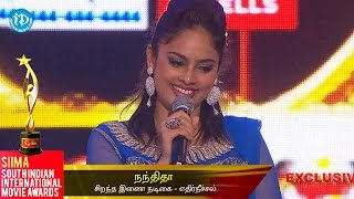 SIIMA 2014 - Tamil Best Actress in Supporting Role | Nandita | Ethir Neechal - IDREAMMOVIES