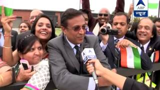 Supporters cheer PM Narendra Modi on andrews air force base, Washington DC - ABPNEWSTV