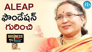 Ramadevi About ALEAP Foundation || Business Icons With iDream - IDREAMMOVIES