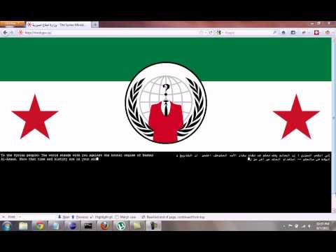 Anonymous' message to the people of Syria