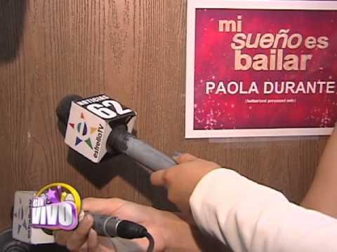 Paola Durante es expulsada de Mi sueño es bailar. EN VIVO