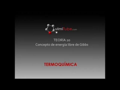 TERMODINAMICA TEORIA 20 Concepto de energía libre de Gibbs  Espontaneidad reacciones