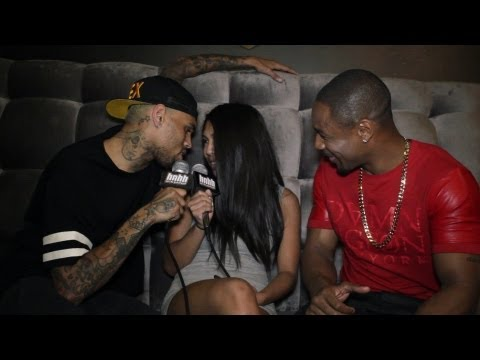 Chris Brown Interviews Tank and Gets Frisky with HotNewHipHop Shots Fired Behind The Scenes