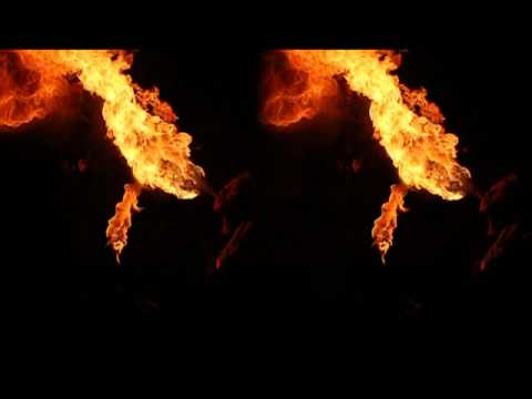 3D fire breathing at Firedrums with Slomo Effect (twixtor)