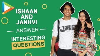 Lied in a press conference? Ex's? Ishaan Khatter & Janhvi Kapoor REVEAL it all... - HUNGAMA