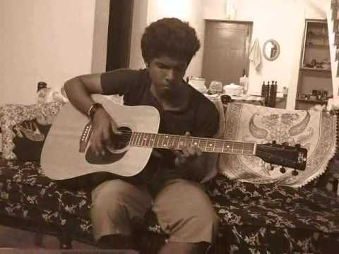 anuraagathin velayil thattathin marayathu in guitar...