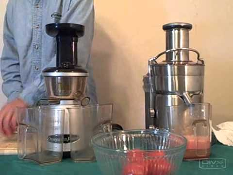 Breville Juice Fountain Elite vs Omega VRT350HD Juicer Review