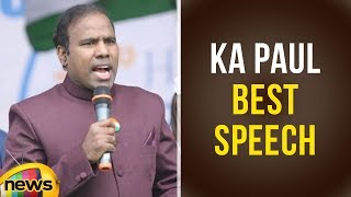 KA Paul Best Speech | KA Paul Latest Press Meet | AP Elections 2019 Updates | Mango News - MANGONEWS