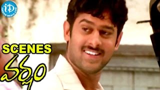 Varsham Movie Scenes - Baahubali Prabhas, Raghu Babu Fight Scene - IDREAMMOVIES