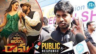 Vinaya Vidheya Rama Movie Public Response |  Vinaya Vidheya Rama Review | Ram Charan | Kiara Advani - IDREAMMOVIES