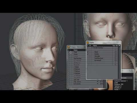 Lightwave 11 FiberFX Walkthrough for Long Hair, Part 1