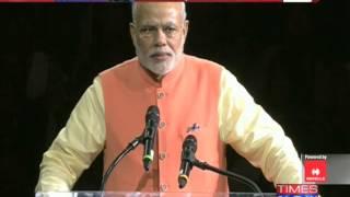 Narendra Modi chants Bharat Mata Ki Jai at Madison Square Garden - TIMESNOWONLINE
