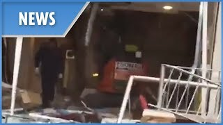 Travelodge digger rampage (2nd angle) - THESUNNEWSPAPER