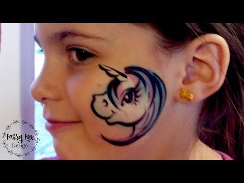 Unicorn Cheek Art, Very Fast Face painting tutorial