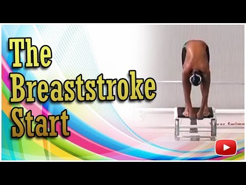 Swimming Skills and Drills - The Breaststroke Start - Coach Randy Reese