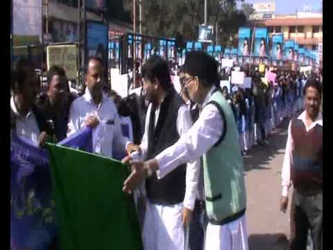 IBRAR AHMAD PRESIDENT ANJUMAN ISLAMIA RANCHI  GIVING GREEN FLAG TO THE RALLY PART 8