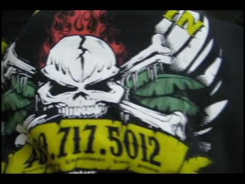 4 Color Discharge Screen Printing on Dark T-Shirt