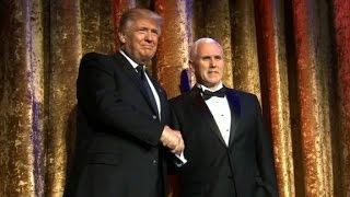 Trump addresses crowd at first inaugural event - CNN