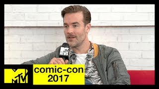 James Van Der Beek on Playing Diplo | Comic-Con 2017 | MTV - MTV