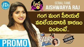 Ganga Manga Serial Actress Aishwarya Raj Interview Promo | Soap Stars with Anitha #57 - IDREAMMOVIES
