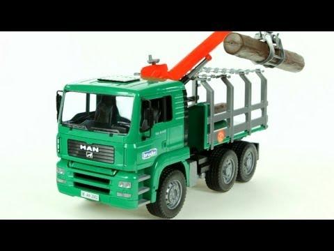 MAN Timber Truck with Loading Crane – Muffin Songs' Oyuncakları Tanıyalım