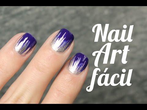 Diseño de uñas fuego azul klein | Ideas de nail art  MUY FÁCIL y RÁPIDO