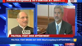 Foreign secy replaced - TIMESNOWONLINE
