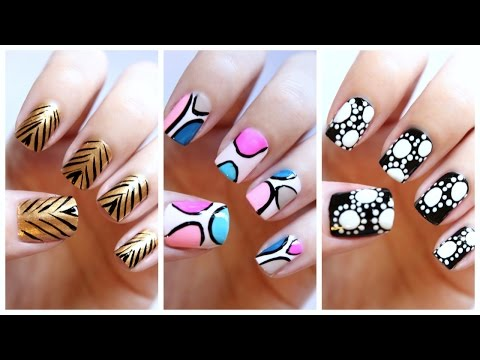 Easy Nail Art For Beginners!!! #19 | MissJenFABULOUS