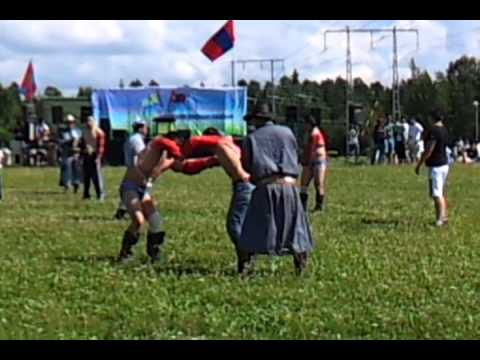Mongolian national day celebrated with wrestling in Akalla, Sweden