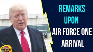 Donald Trump Remarks Upon Air Force One Arrival | Trump Latest News | Mango News - MANGONEWS