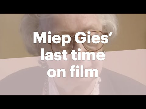 Miep Gies is one of the helpers of the people in hiding .
