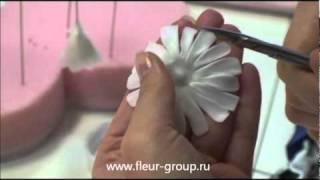 Керамическая флористика fleur - Урок 1 (часть 3).wmv