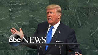 Trump delivers blistering address to UN General Assembly - ABCNEWS