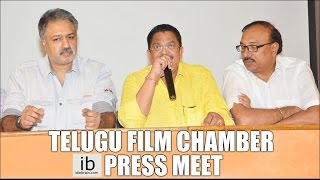 Telugu film chamber of commerce and Telangana Chamber of commerce joint press meet - idlebrain.com - IDLEBRAINLIVE