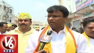 Vivek tdp face to face in Kudbullapur - V6NEWSTELUGU