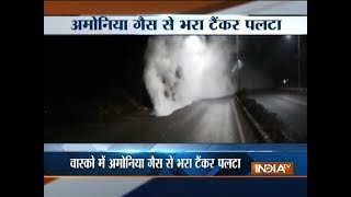 Goa village evacuated after ammonia gas tanker leak, two women hospitalised - INDIATV