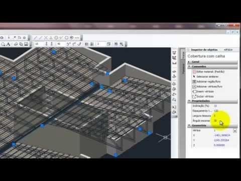 Criando em 3D - Telhados com madeiramento entre platibandas
