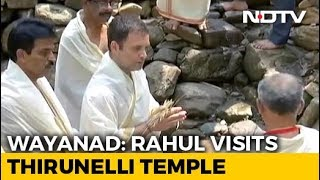 Rahul Gandhi Visits Stream In Wayanad Where Father's Ashes Were Immersed - NDTV