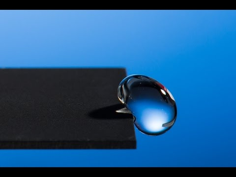 Using Lasers to Create Super-hydrophobic Materials
