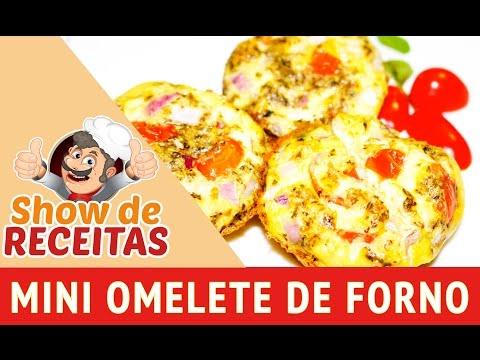 Show de Receitas - Como fazer Mini Omelete de Forno