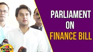 Jyotiraditya Scindia Addresses Media in Parliament on Finance Bill | Mango News - MANGONEWS