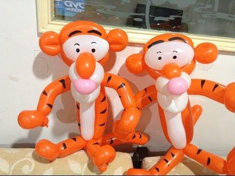 Игрушка тигр из шариков.