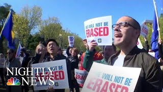 Protests As President Donald Trump Administration Considers Re-Defining Gender | NBC Nightly News - NBCNEWS