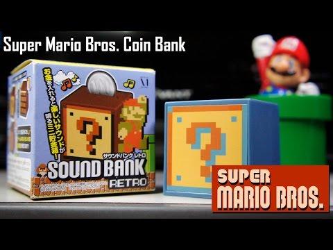 Super Mario Bros. Sound Bank Retro Coin Bank | Too Much Gaming