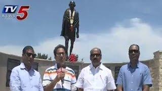 Music Director Vandemataram Srinivas Pays Tribute to Mahatma Gandhi in Irving | Dallas | TV5 News - TV5NEWSCHANNEL