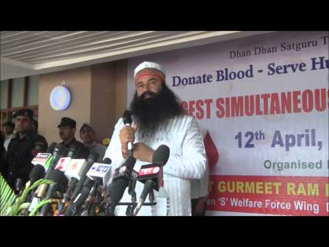 Mega Blood Donation Camp organized by Dera Sacha Sauda on 12th April, 2014 in New Delhi - Part 2