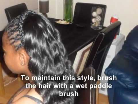 Partial sew in Weave Tutorial with Wavy Braids & Loose Deep Curls